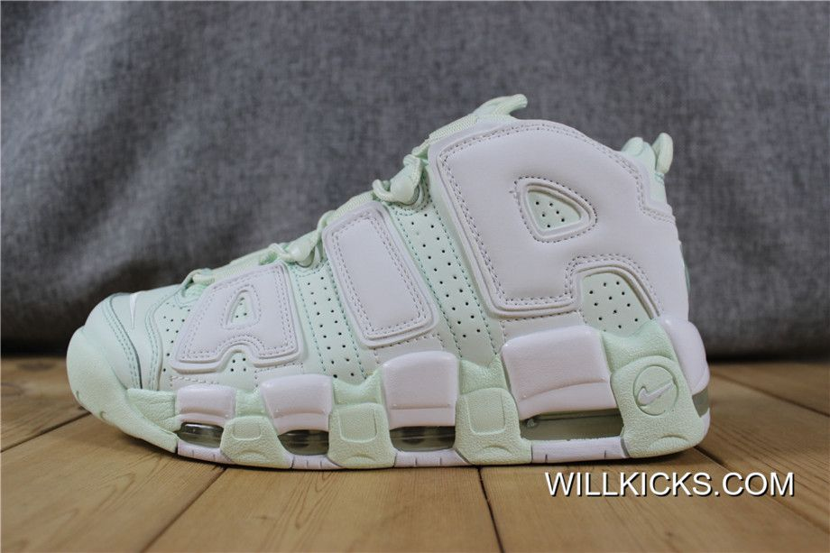 9b38f3f484c1 Nike Air More UPTEMPO BARELY Green New Style