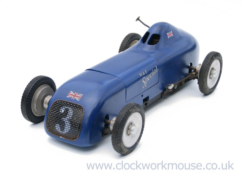 "Vintage M & E ""Special"" tether model race car from the late 40's - England"
