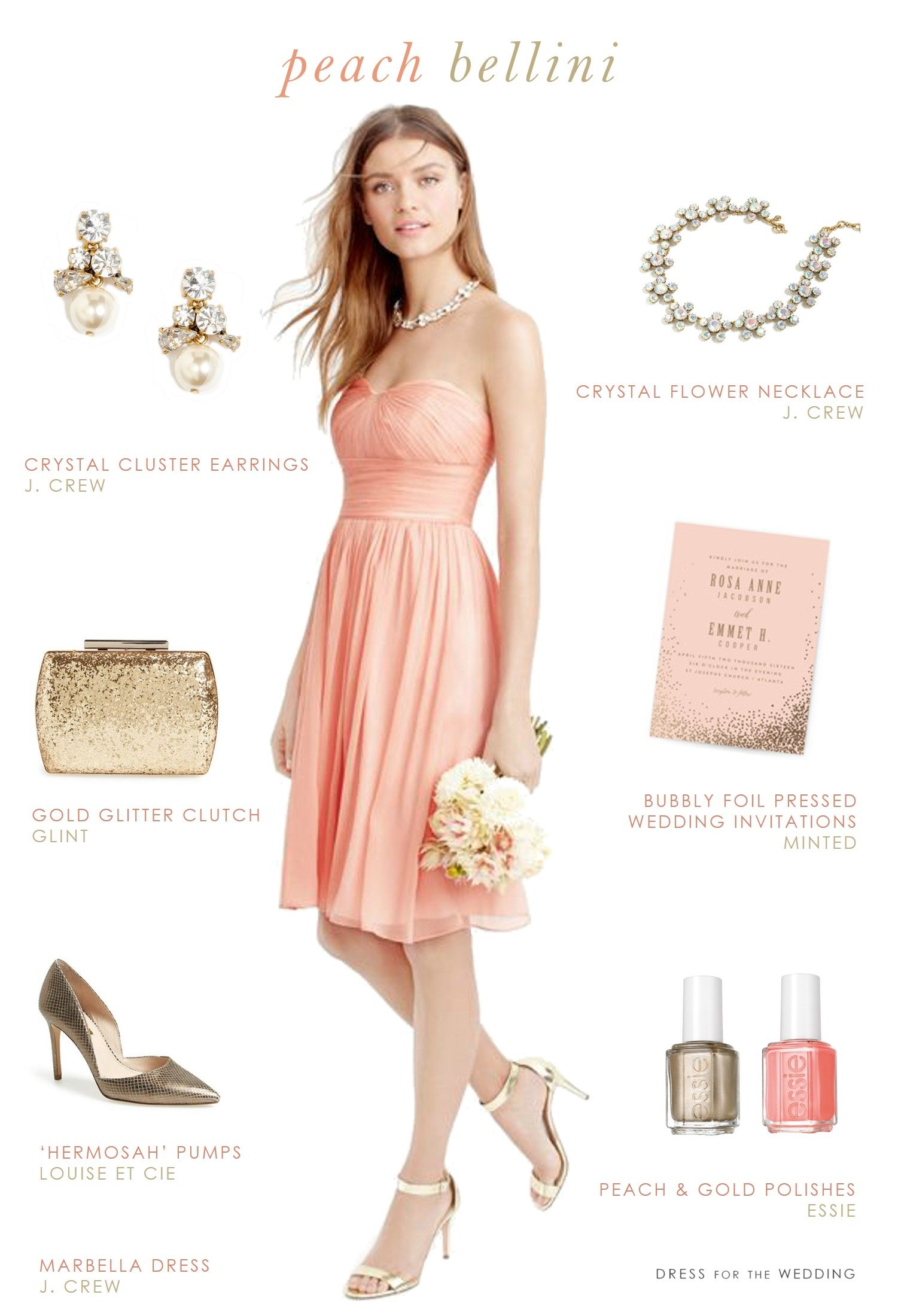 Cute Strapless Short Length Peach Bridesmaid Dress And Gold Wedding Style: Pritty Dresses Peach Wedding At Reisefeber.org