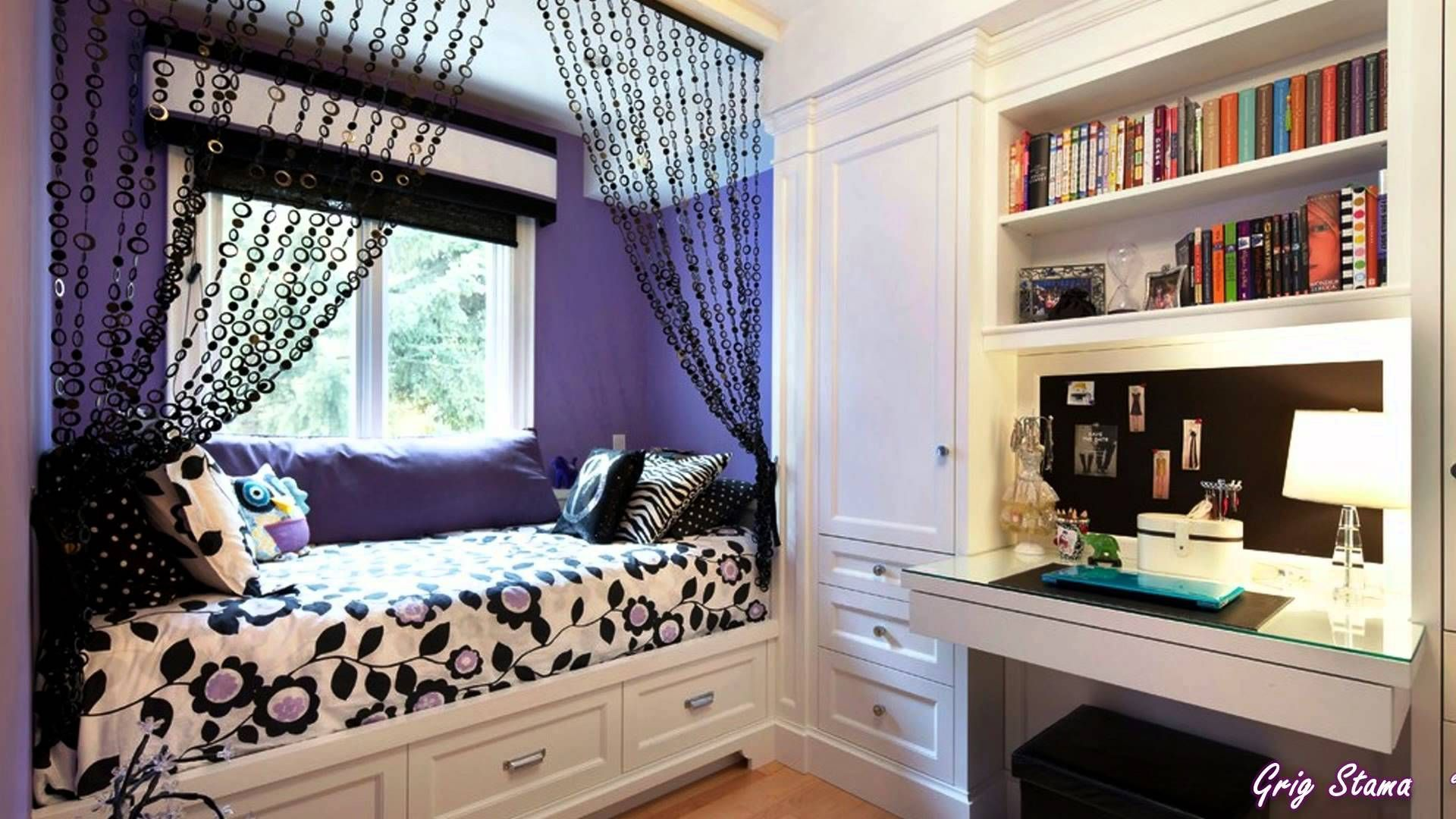 inspiration for a traditional teen room for girls in toronto with purple walls and light hardwood