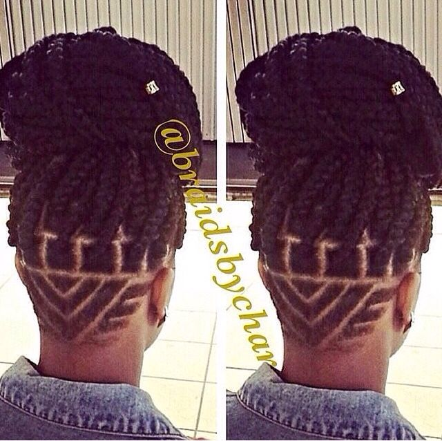 Nice Undercut And The Braids Add A Special Touch To This Look Shaved Hair Designs Braided Hairstyles Undercut Hair Designs