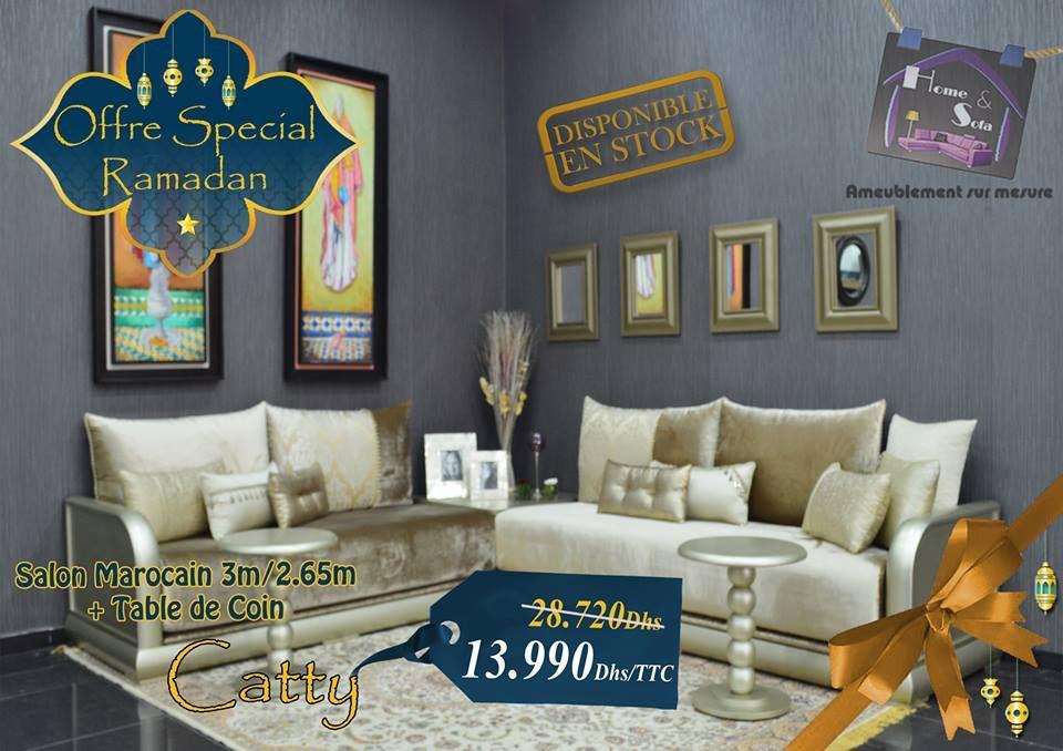 Salon marocain moderne – table de coin – salon catty – Home and Sofa ...