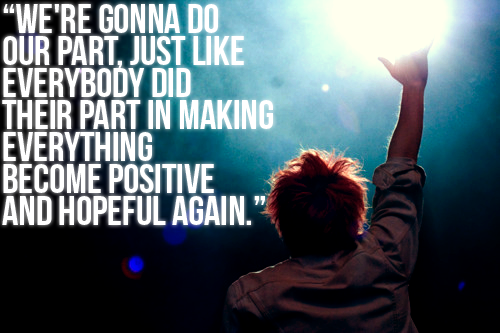 This Quote Is From Gerard Way Talking About 9/11 On The