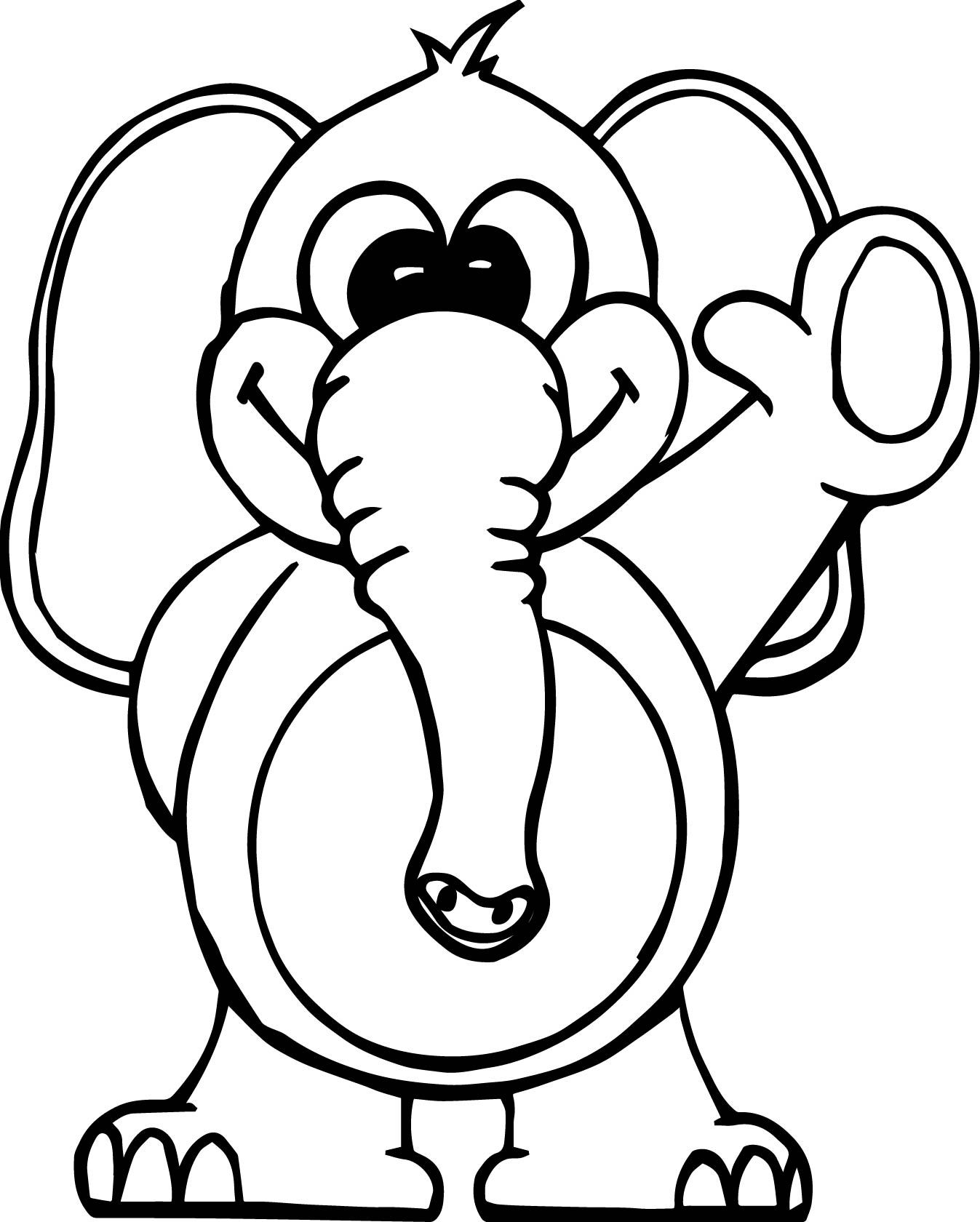 Cool Hello Elephant Coloring Page