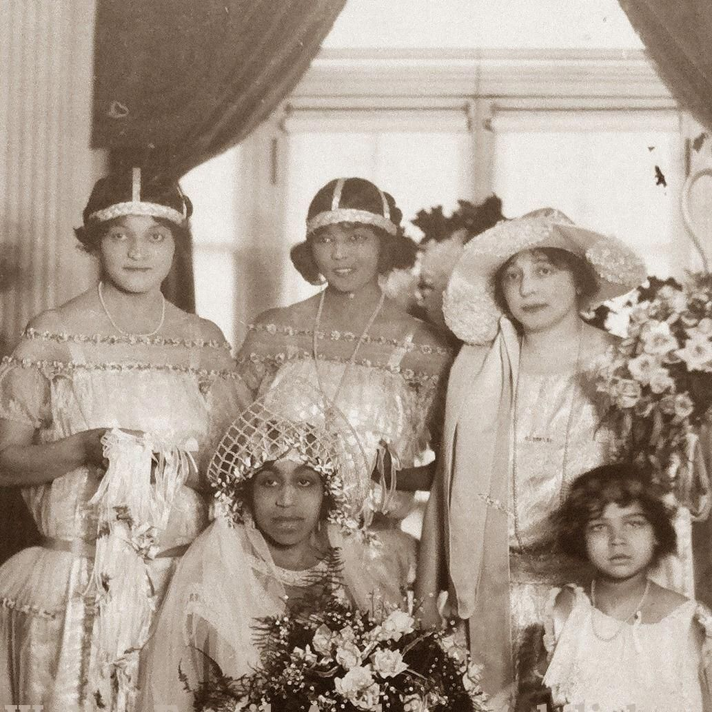 Madam CJ Walker's daughter on her wedding day with her