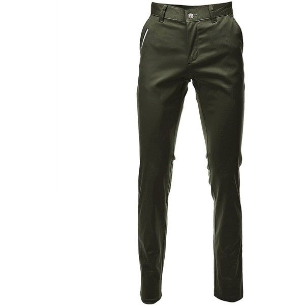 FLATSEVEN Mens Slim Fit Chino Pants Trouser Premium Cotton at Amazon... ($40) ❤ liked on Polyvore featuring men's fashion, men's clothing, men's pants, men's casual pants, mens slim pants, mens chinos pants, mens slim fit chino pants, mens cotton pants and mens slim fit pants