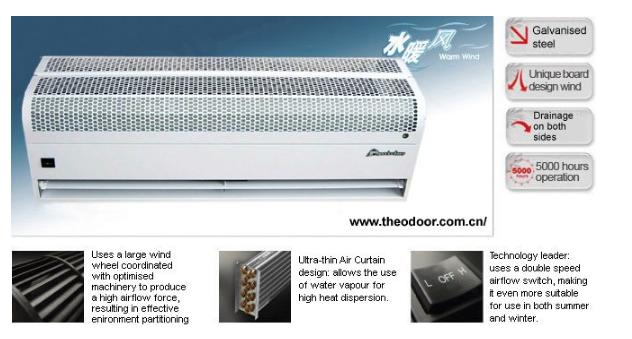 Industrial Water Heating Air door for Automatic Door