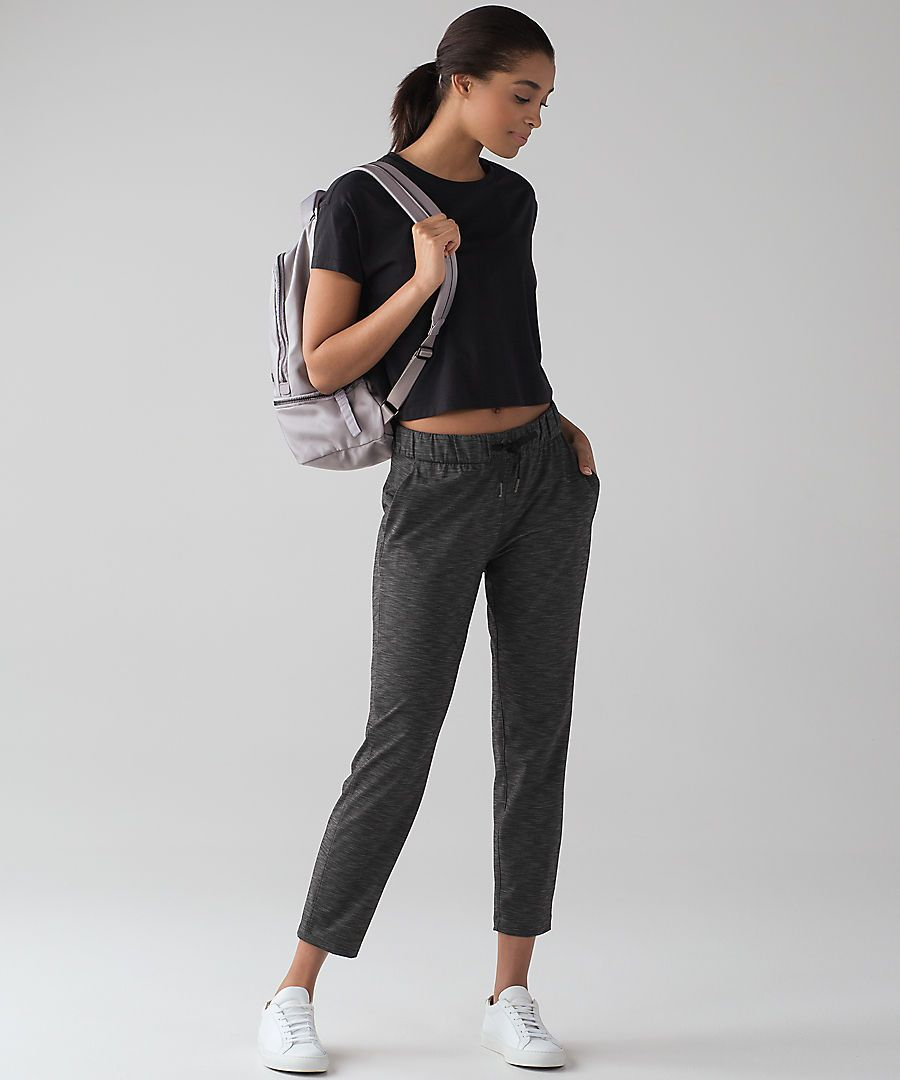a438a6a7a36b4 On the Fly Pant - Heathered black Lululemon Pants, Train Like A Beast,  Fashion