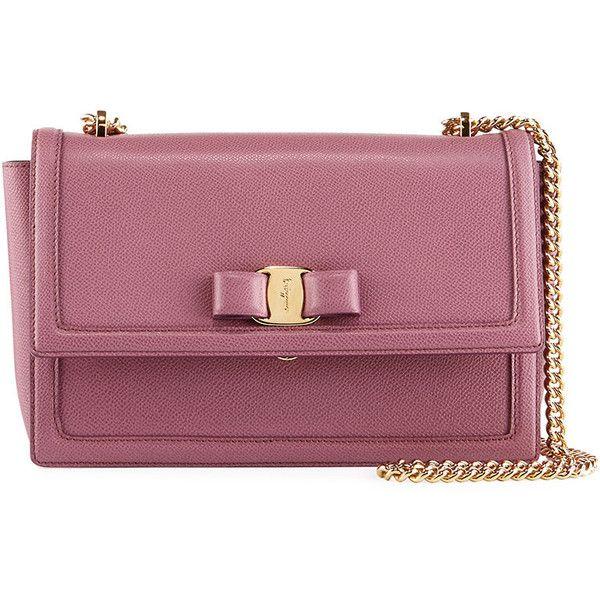 Salvatore Ferragamo Ginny Medium Vara Flap Crossbody Bag (4 46dfea43a2694