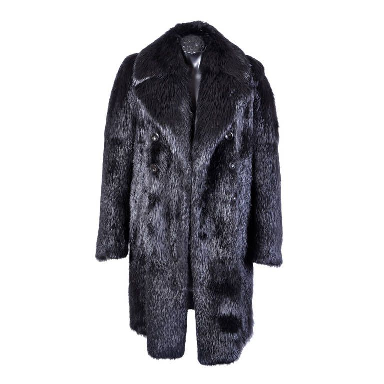 New TOM FORD BLACK BEAVER MENS FUR COAT | Fur coat, Tom ford and Fur