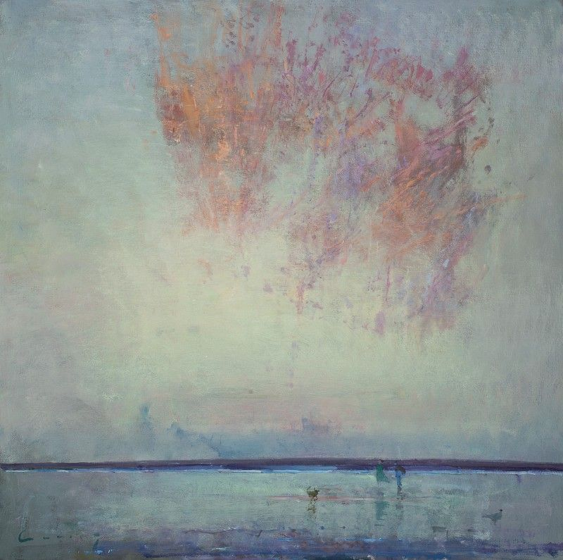 Fred Cuming RA original oil on panel, British landscape