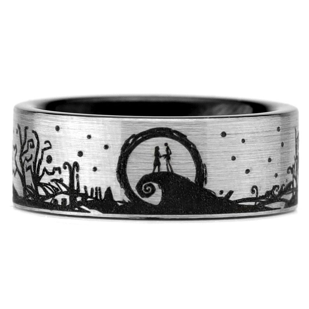 Nightmare Before Christmas Wraparound Tungsten Ring | wedding board ...