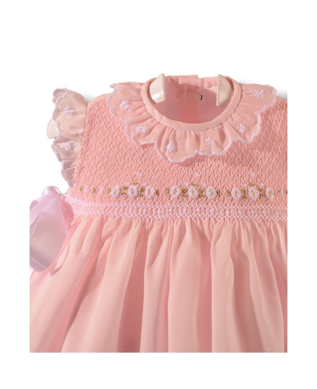 Bebé Niñas Rosa Verano Smocked Mameluco De Bebé Blues