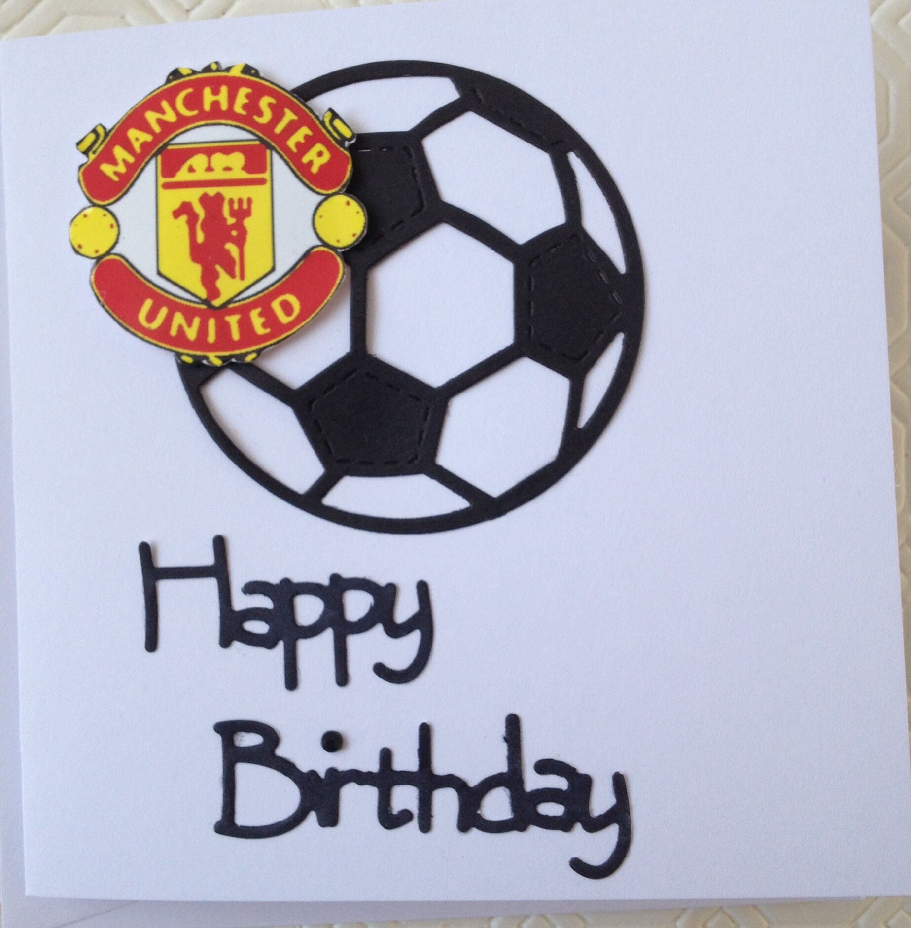 Manchester United card DIY Daily Pinterest – Man Utd Birthday Card