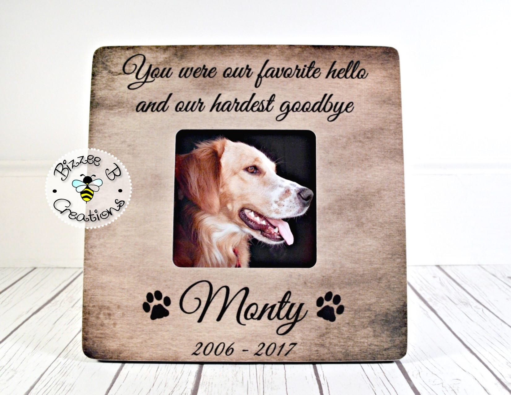 Personalized Pet Loss Gift, Pet Frame Dog, You Were Our