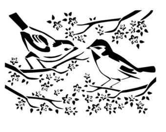 6/6 vintage dove stencil. by LoveStencil on Etsy