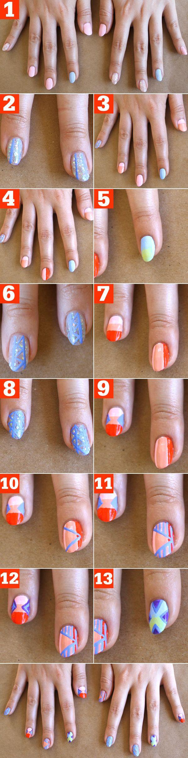 Tribal Nail Art Tutorial! | Tribal nails, Trendy nail art ...