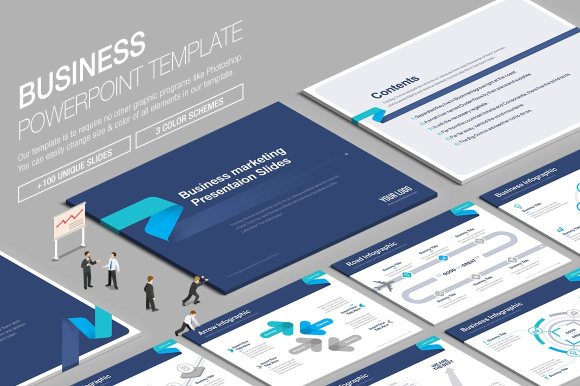 ppt business powerpoint template by lunik20 on creativemarket