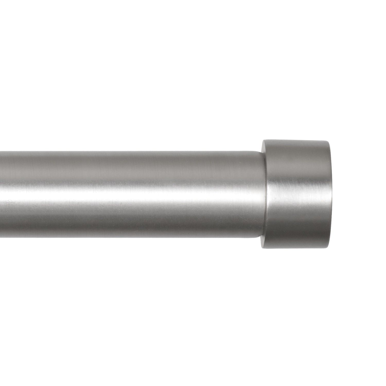 Cappa Rod Nickel 72 144 Curtain Rods Drapery Rods Modern Curtain Rods