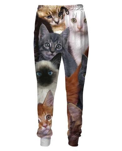 Cats Collage Sweatpants - JAKKOUTTHEBXX - Joggers