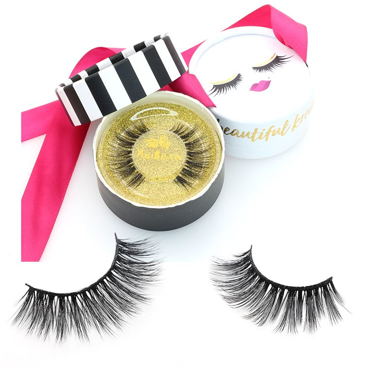 4f9ee2df0c6 Synthetic faux mink false eye lashes with private label eyelash packaging  box