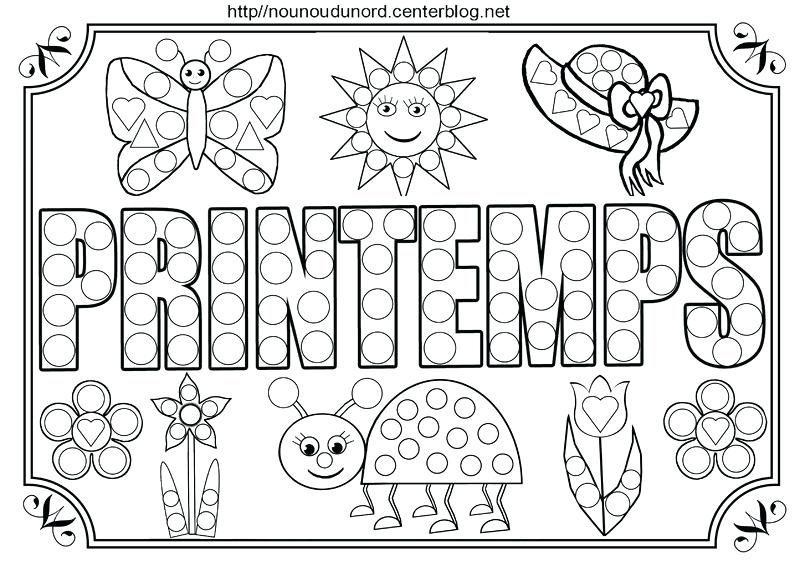 Coloriage Printemps A Imprimer Printemps Tableau A Colorier Et