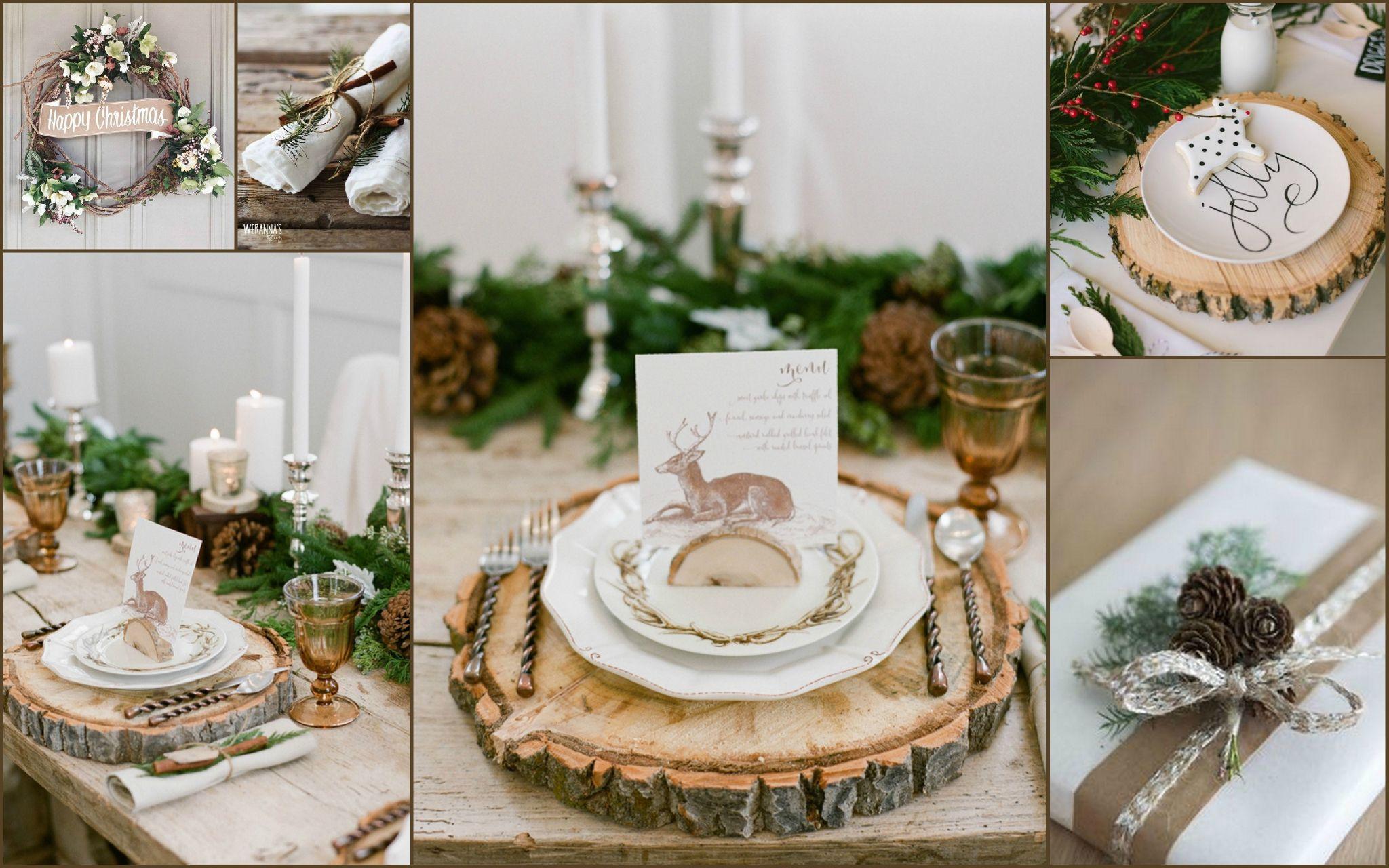 Deco Noel En Bois Naturel noel naturel - bois | table de fete noel, table de fete