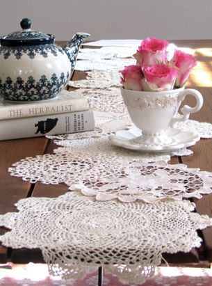 DIY // Doily Table Runner   PS By Dila Amazing Design