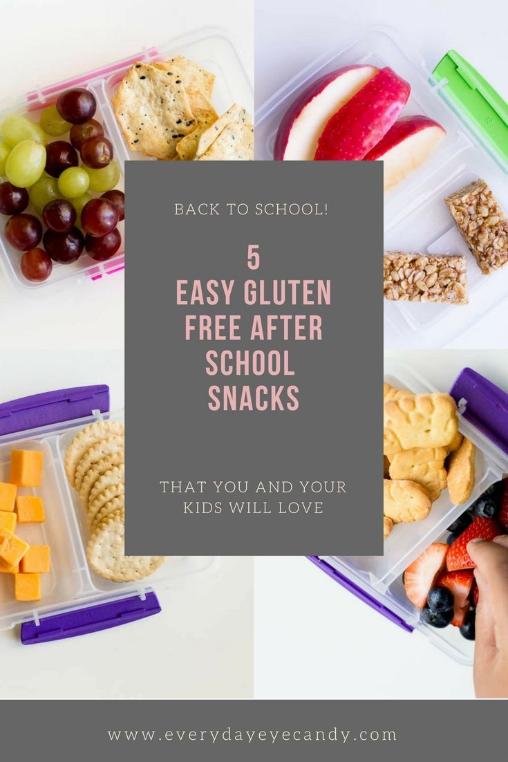 5 Gluten Free After School Snacks Your Kid Will Love Healthy