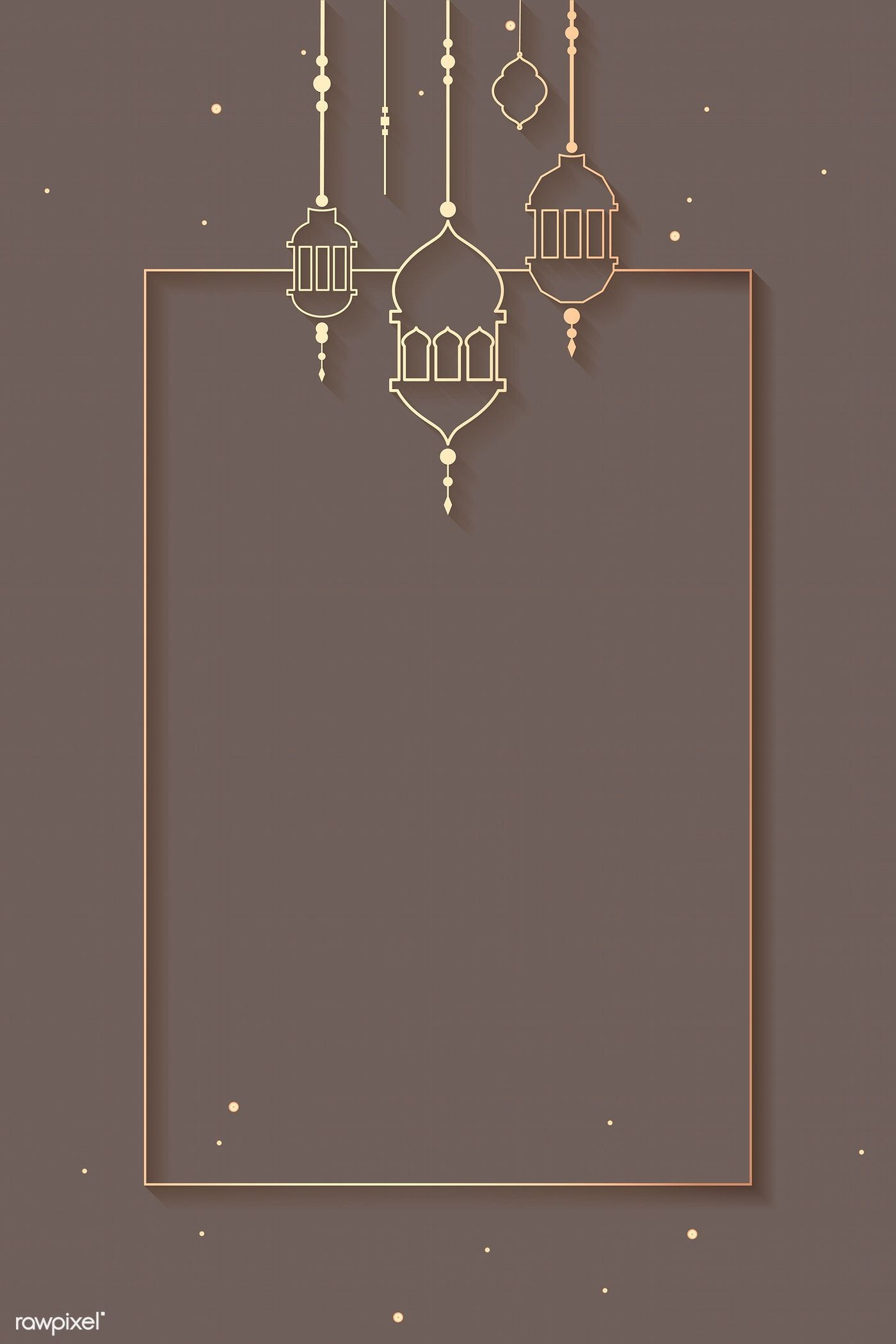 Download Premium Vector Of Ramadan Mubarak Frame With Lantern Vector 868583 Background Design Poster Background Design Ramadan Background