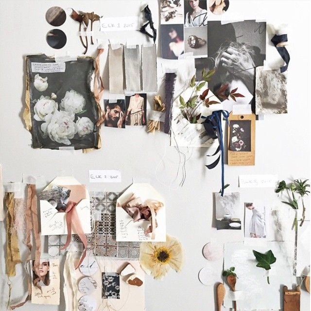 mood board with texture