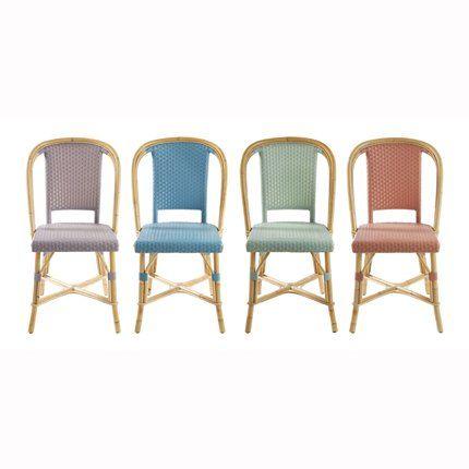 Cuisine illusion p r ne chaise de bistrot chaises et id es bar caf - Chaises de bistrot en rotin ...