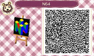 N64 Logo Animal Crossing New Leaf Qr Code Requested By