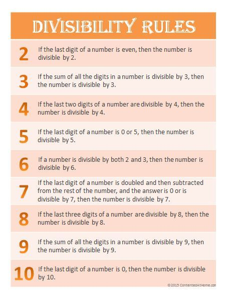 Free Printable Divisibility Rules Worksheets