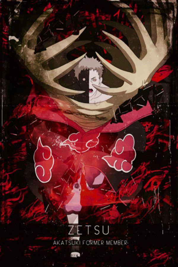 Akatsuki Zetsu Anime Manga Poster Print Metal Posters Anime Naruto Naruto Shippuden Sasuke Personagens Naruto Shippuden