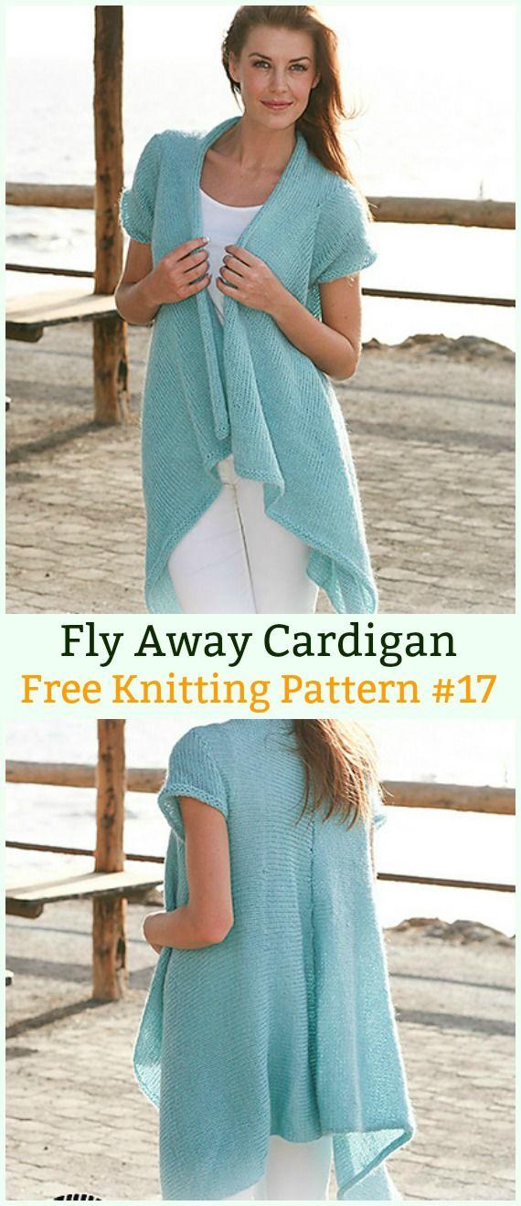 Fly Away Cardigan Sweater Free Knitting Pattern Women Cardigan