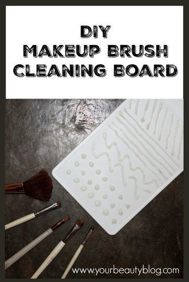 Diy Makeup Brush Cleaning Board DIY Makeup Brush Cleaning Board Diy Makeup diy makeup brush cleaner