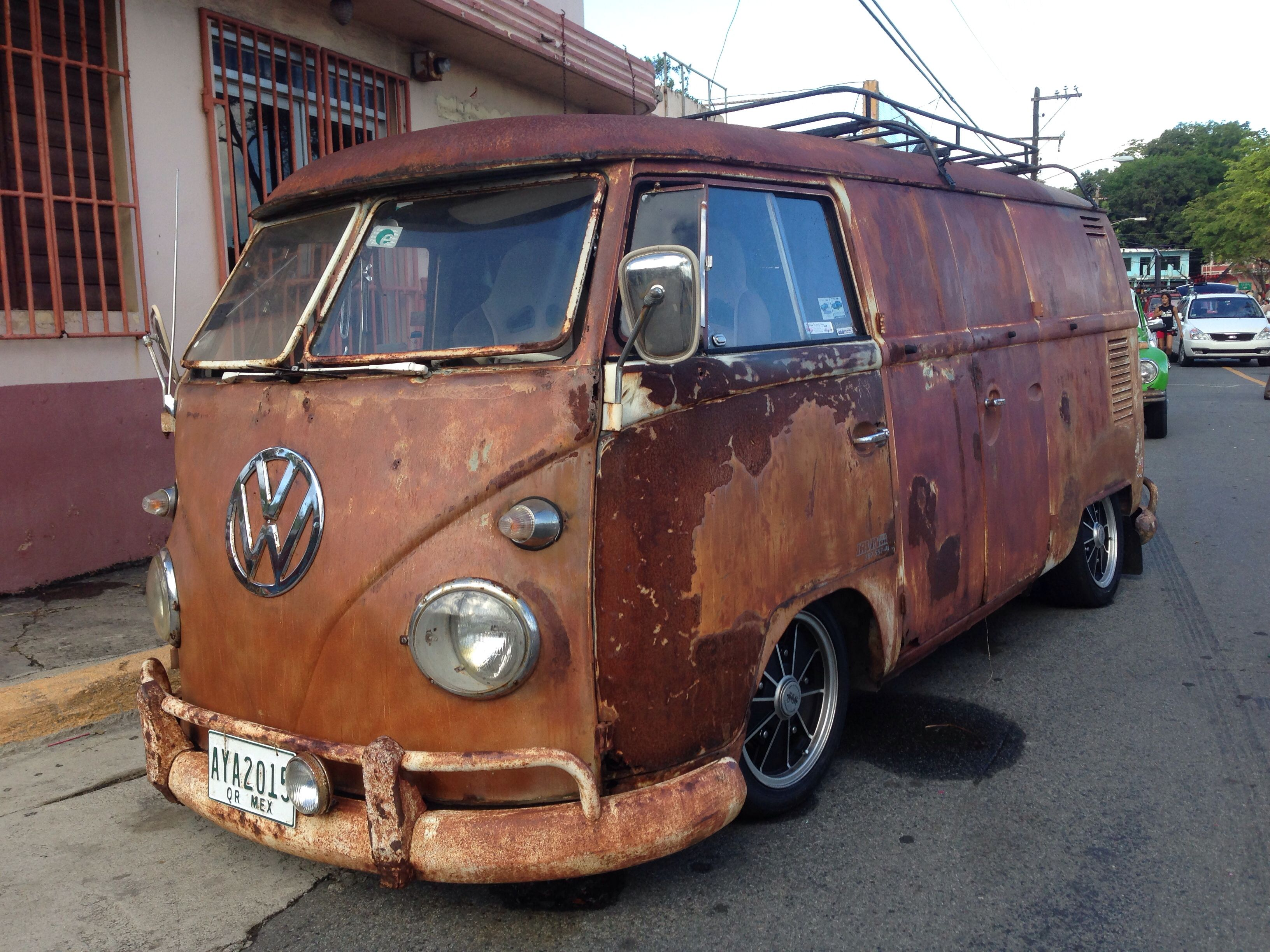 A great 60s VW Bus in Naguabo, Puerto Rico. | Cars | Pinterest | Vw