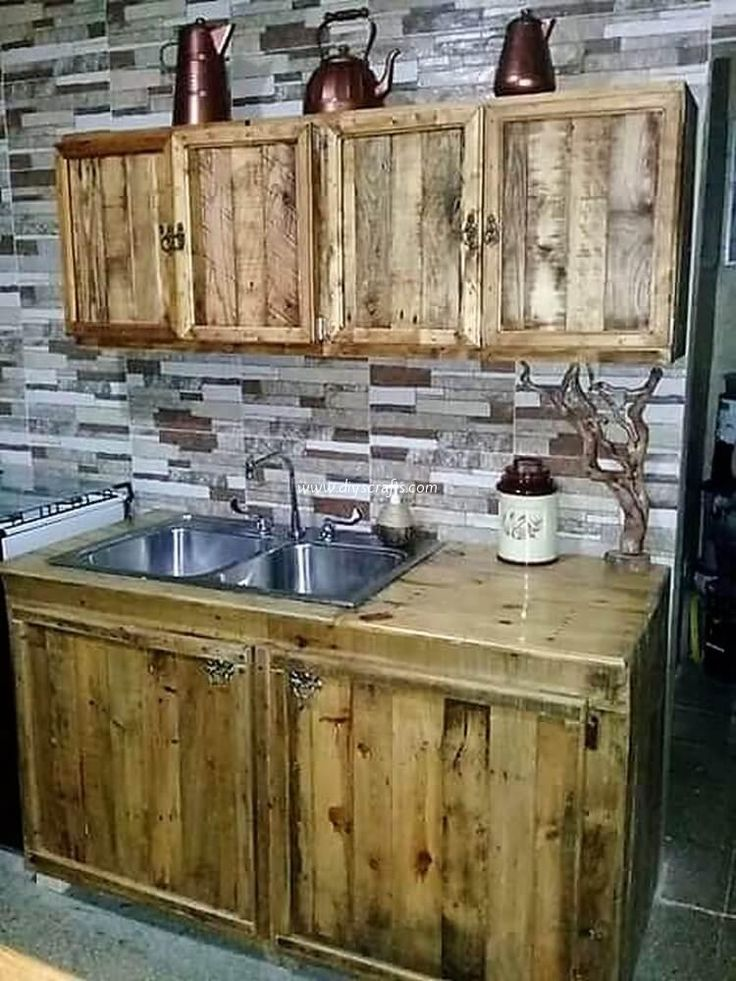 Kitchen Diy Pallet Design Ideas Best Diy Lists Building Kitchen Cabinets Kitchen Cabinets Made Out Of Pallets Pallet Kitchen Cabinets