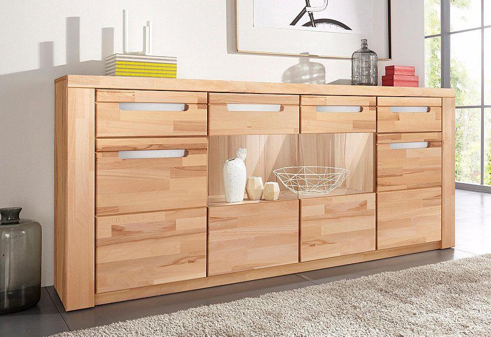 Sideboard »Kolding«, Breite 200 cm mit 2 Glastüren und 2 Holztüren - küchenschrank mit glastüren