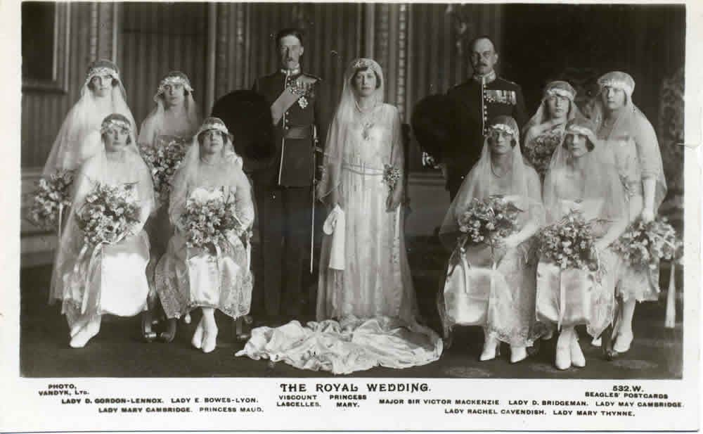 1920s Royal Wedding Princess Mary Royal Weddings Queen Mother