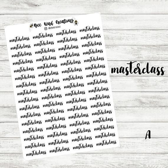 Masterclass Script Planner Stickers Fit Perfectly in Your | Etsy