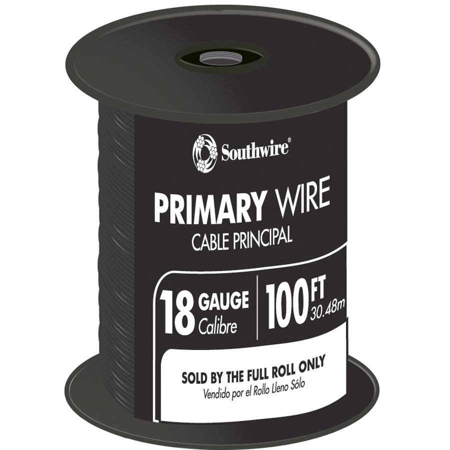 Southwire 55667323 100' 18 Gauge 16 Strand Primary Auto Wire