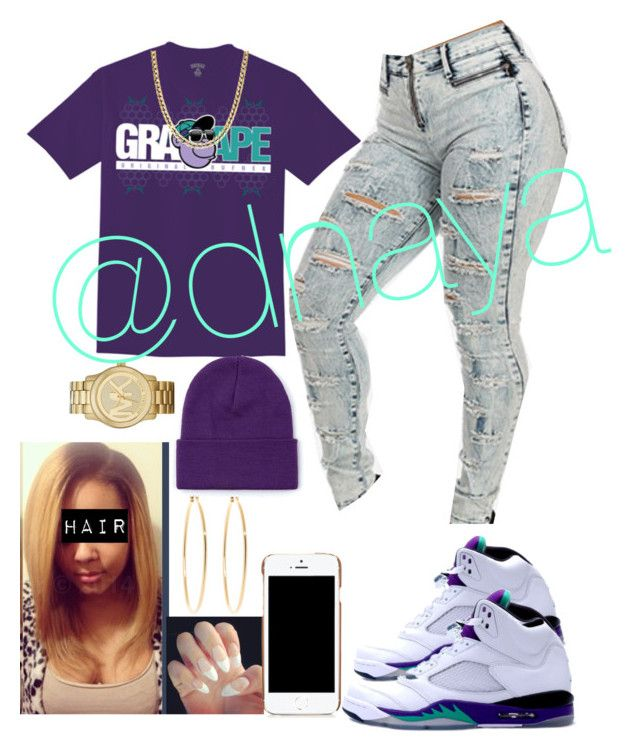 """""""Grape"""" by dnaya on Polyvore featuring Michael Kors, Brooks Brothers and Moschino"""