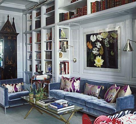Love The Powder Blue Velvet Sofa Great Mix Of Colours Styles And Prints Blue Velvet Sofa Velvet Sofa Home Decor