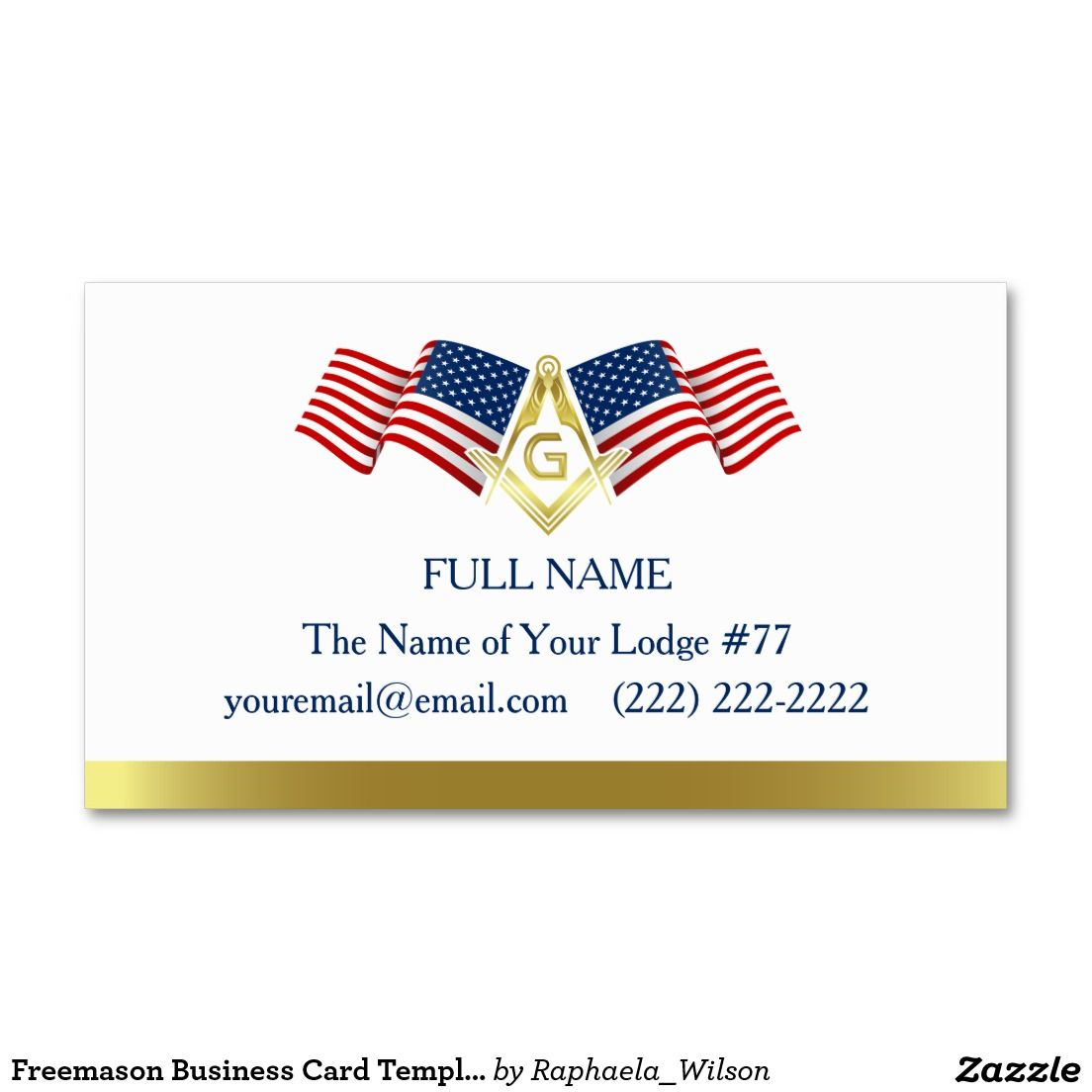 Masonic Business Card Template American Flag Zazzle Com Business Card Template American Flag Cards