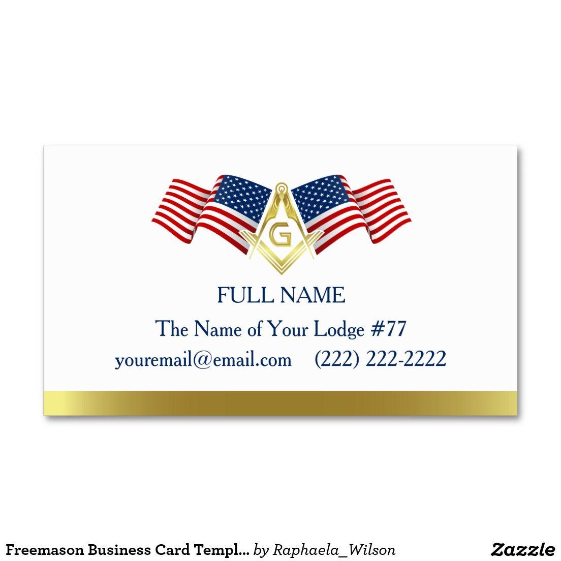 Freemason business card template american flag custom masonic freemason business card template american flag colourmoves