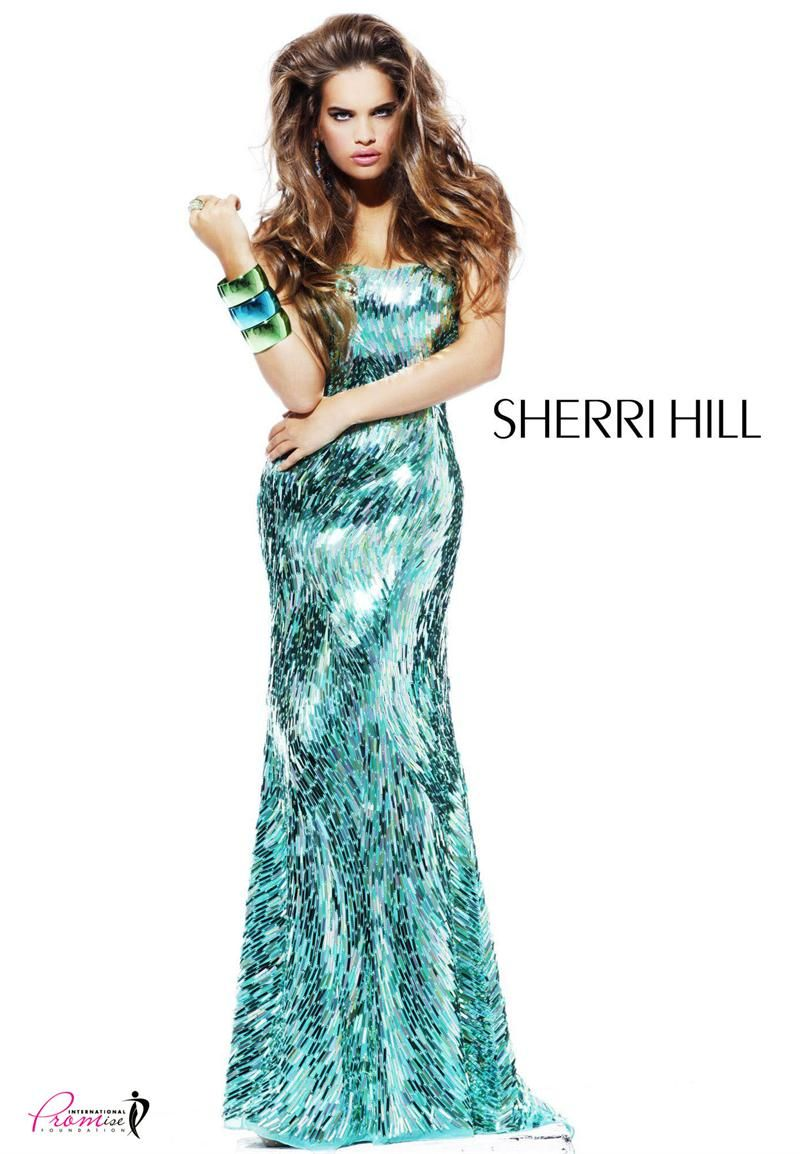 Sherri Hill 2907 Fully sequined strapless #Prom #Pageant #Dresses ...