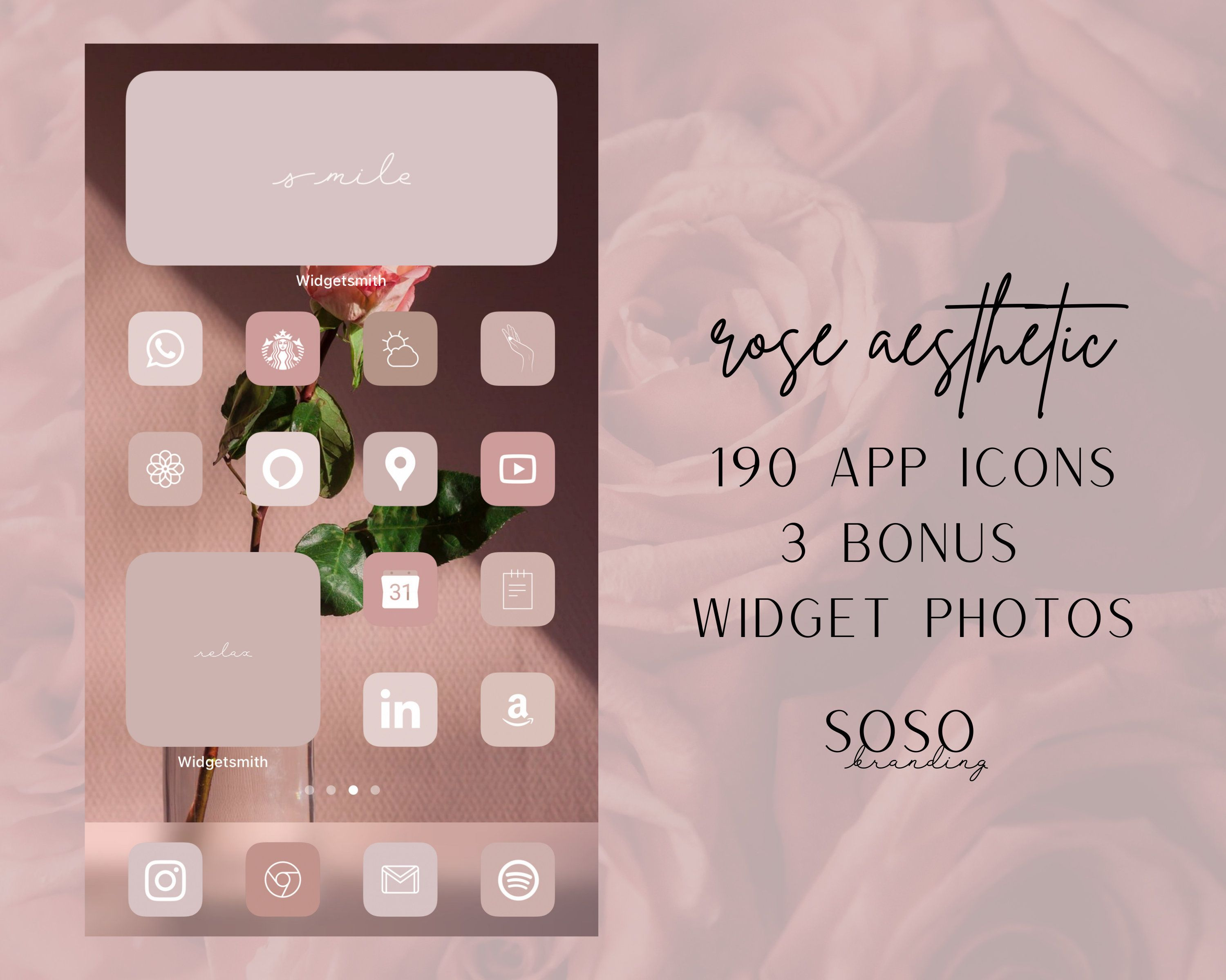 Rose Pink Neutral Aesthetic 189 Iphone Ios 14 App Icons Aesthetic App Icons Ios14 Widget Covers Widgetsmith Ios Shortcuts Icon Pack Iphone In 2020 App Icon Ios App Icon Shortcut Icon