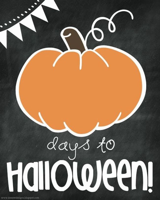 Printable Halloween Countdown for Kids | Halloween countdown ...